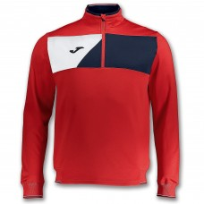 CREW II HZ POLY TOP (RED-NAVY-WHITE)